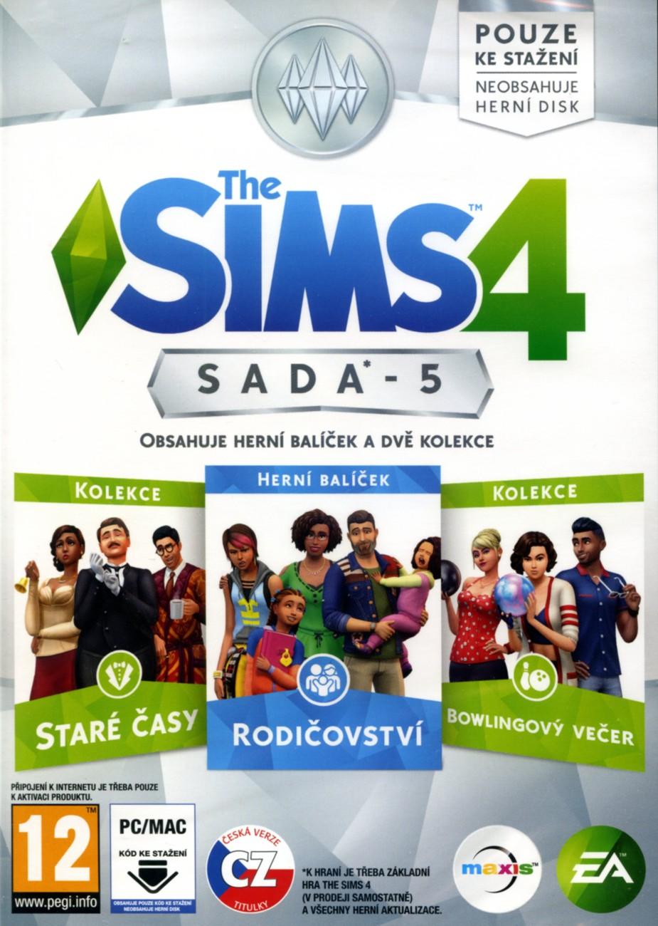 THE SIMS 4 SADA 5: RODIČOVSTVÍ + STARÉ ČASY + BOWLINGOVÝ VEČER - PC