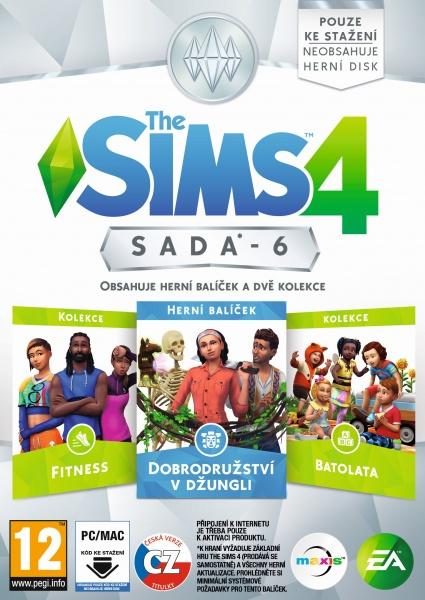 THE SIMS 4 SADA 6: Dobrodružství v džungli + Fitness + Batolata - PC