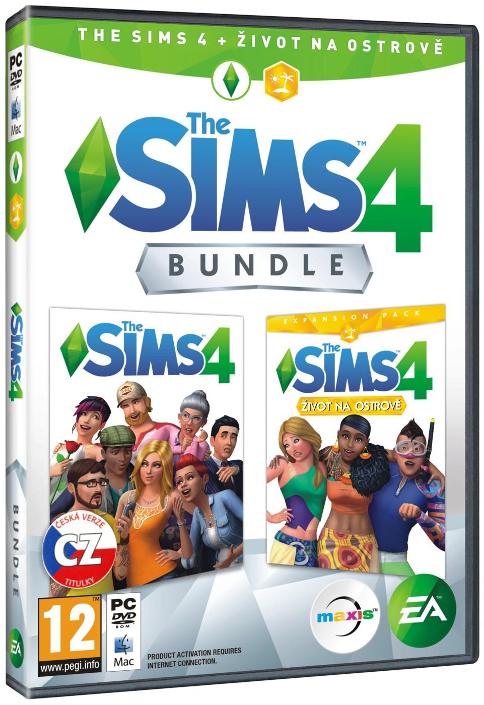 The Sims 4 + Život na ostrově BUNDLE (základní hra + rozšíření) - PC