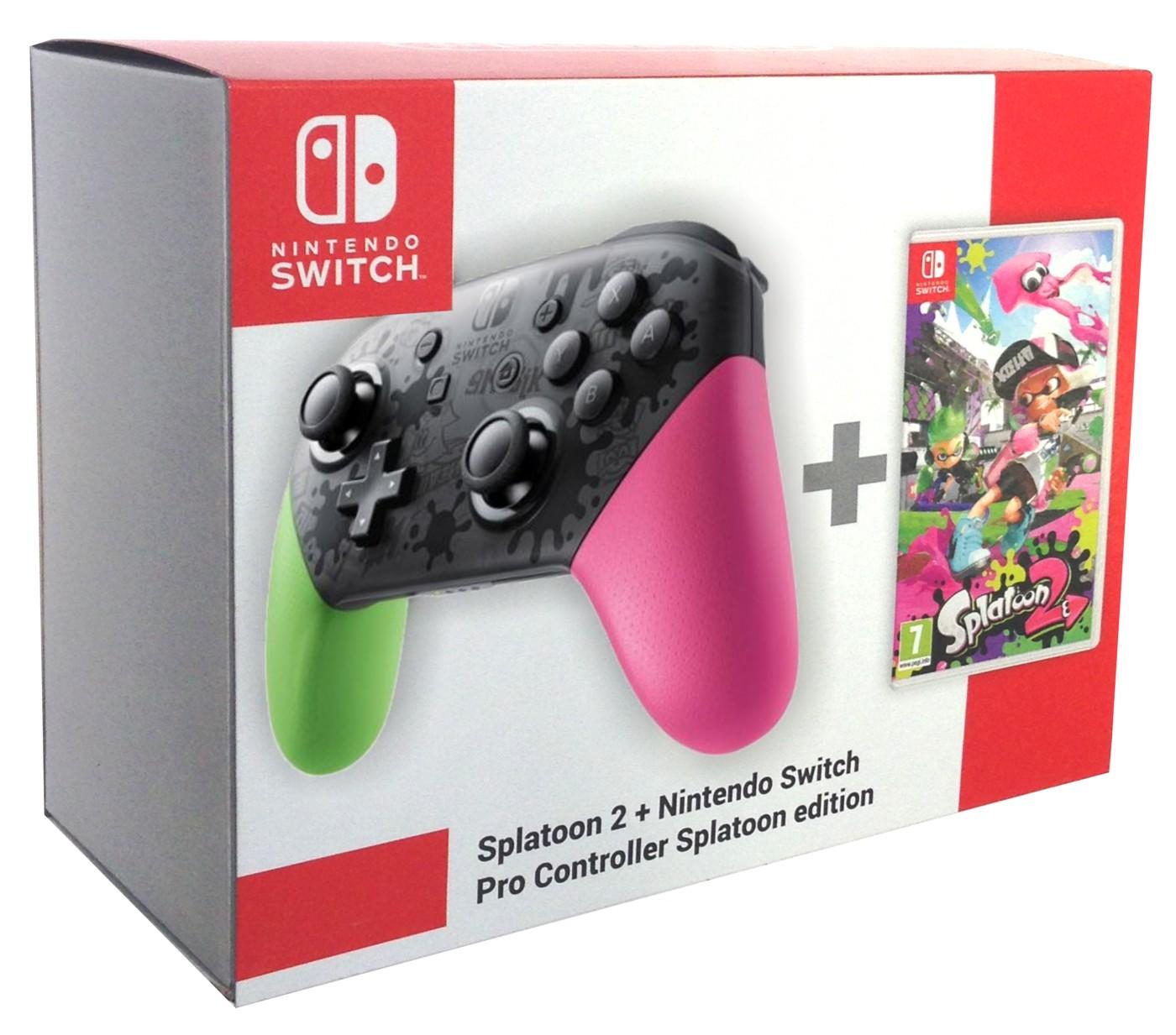 Nintendo SWITCH Pro Controller (Splatoon edition) + Splatoon 2