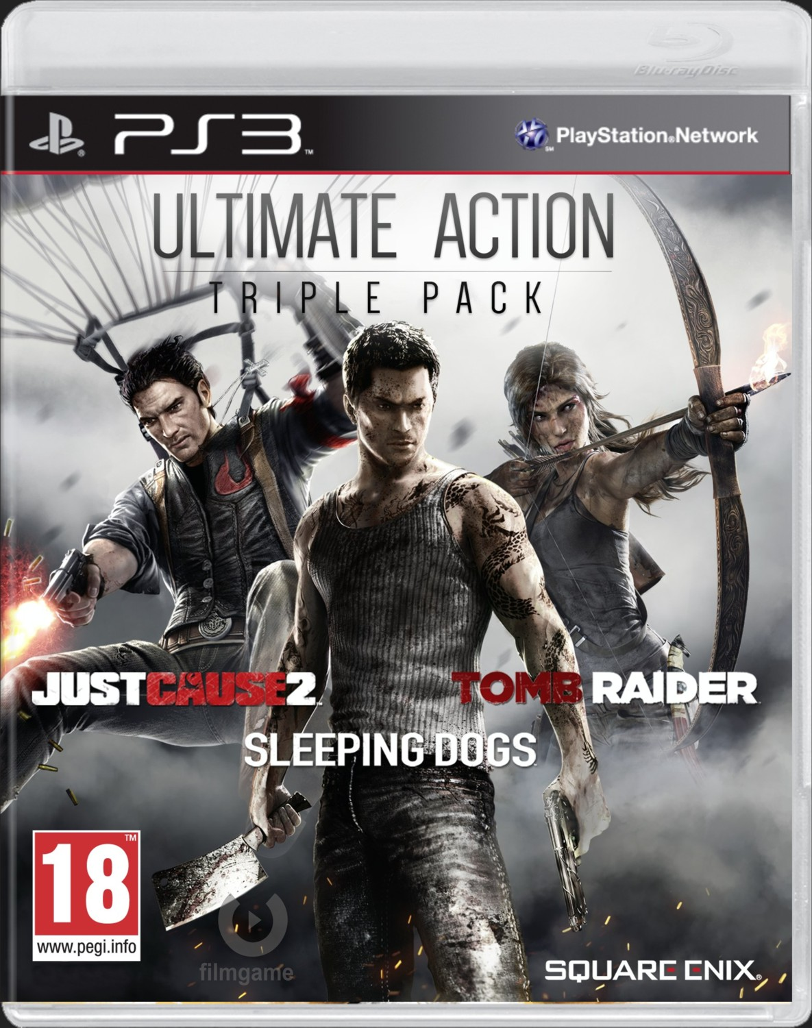 ULTIMATE ACTION TRIPLE PACK (JUST CAUSE 2 + SLEEPING DOGS + TOMB RAIDER) - PS3