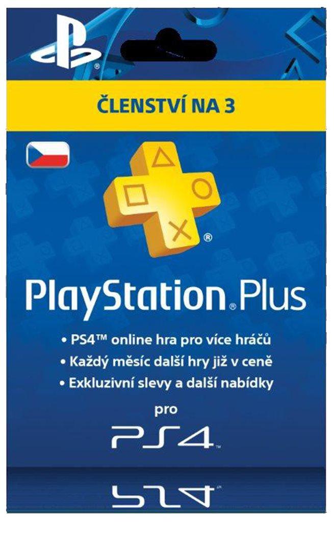 SONY PlayStation Plus - Členství na 3 měsíce