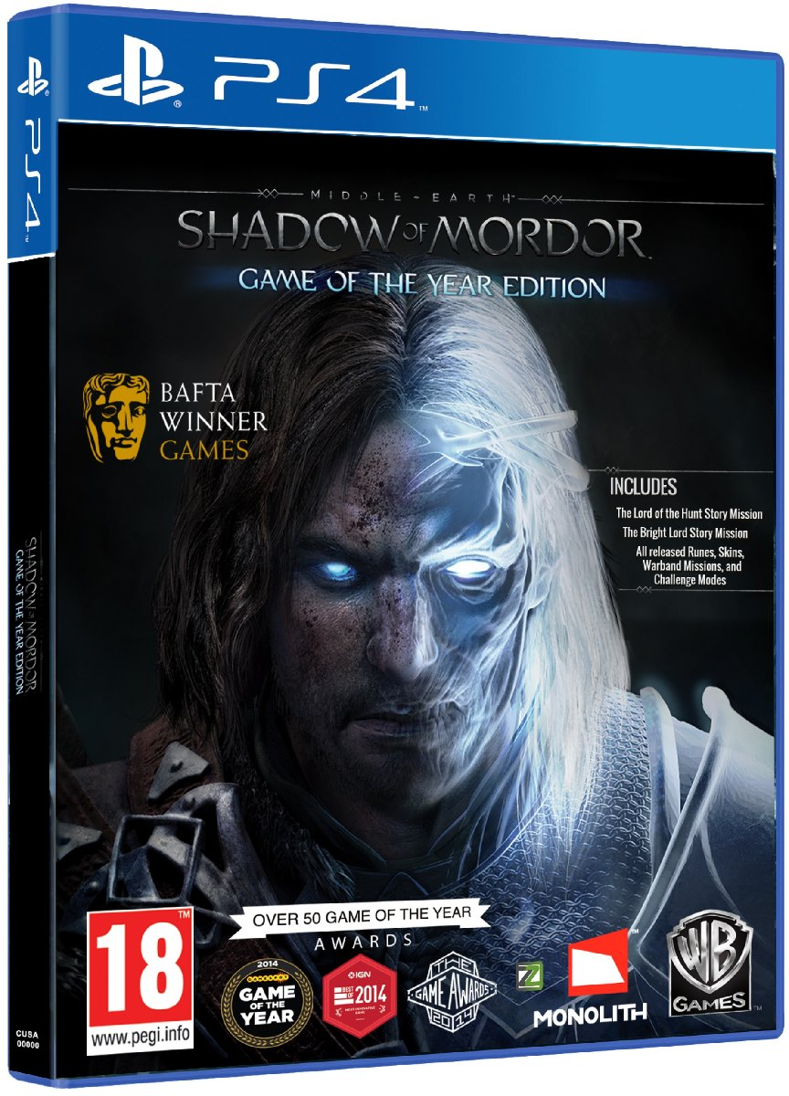 MIDDLE-EARTH: SHADOW OF MORDOR GOTY EDITION - PS4
