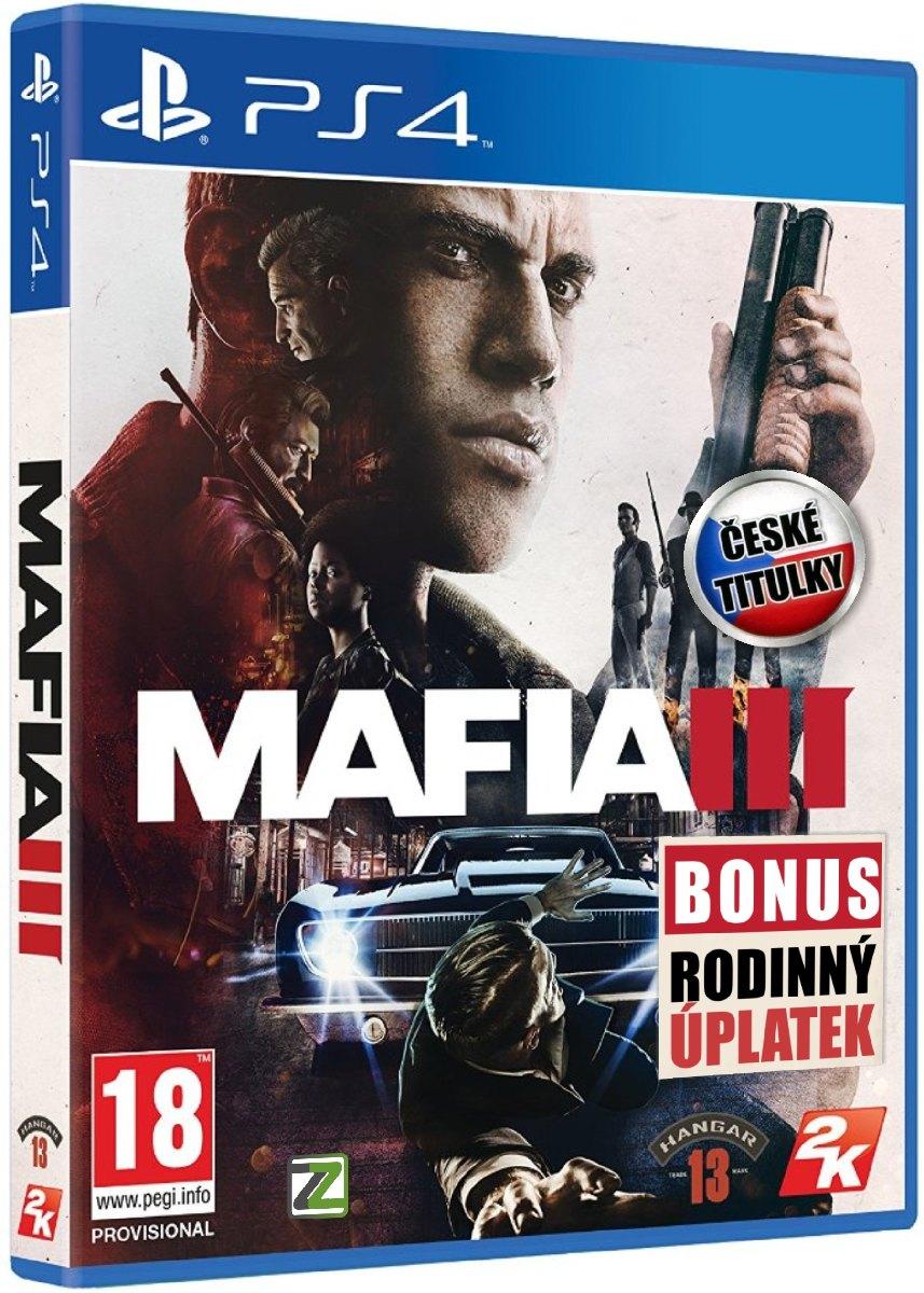 MAFIA III CZ (+DLC Rodinný úplatek) - PS4