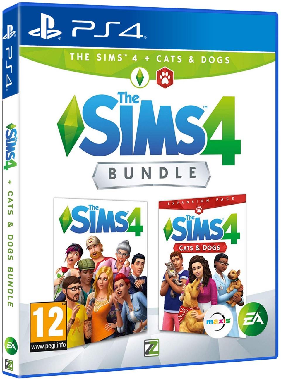 The Sims 4 + Psi a Kočky BUNDLE (základní hra + rozšíření) - PS4