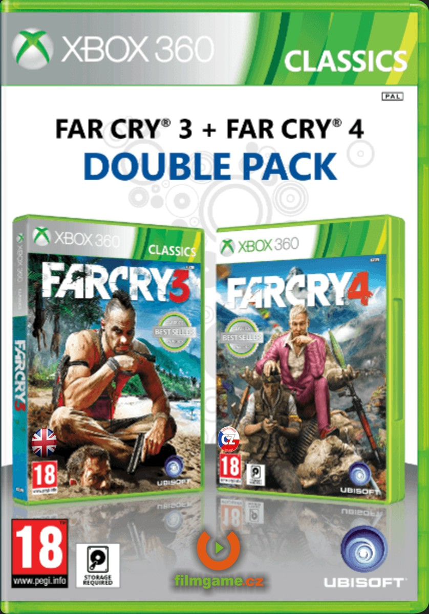 FAR CRY 4 (CZ) + FAR CRY 3 (EN) - DOUBLE PACK - X360