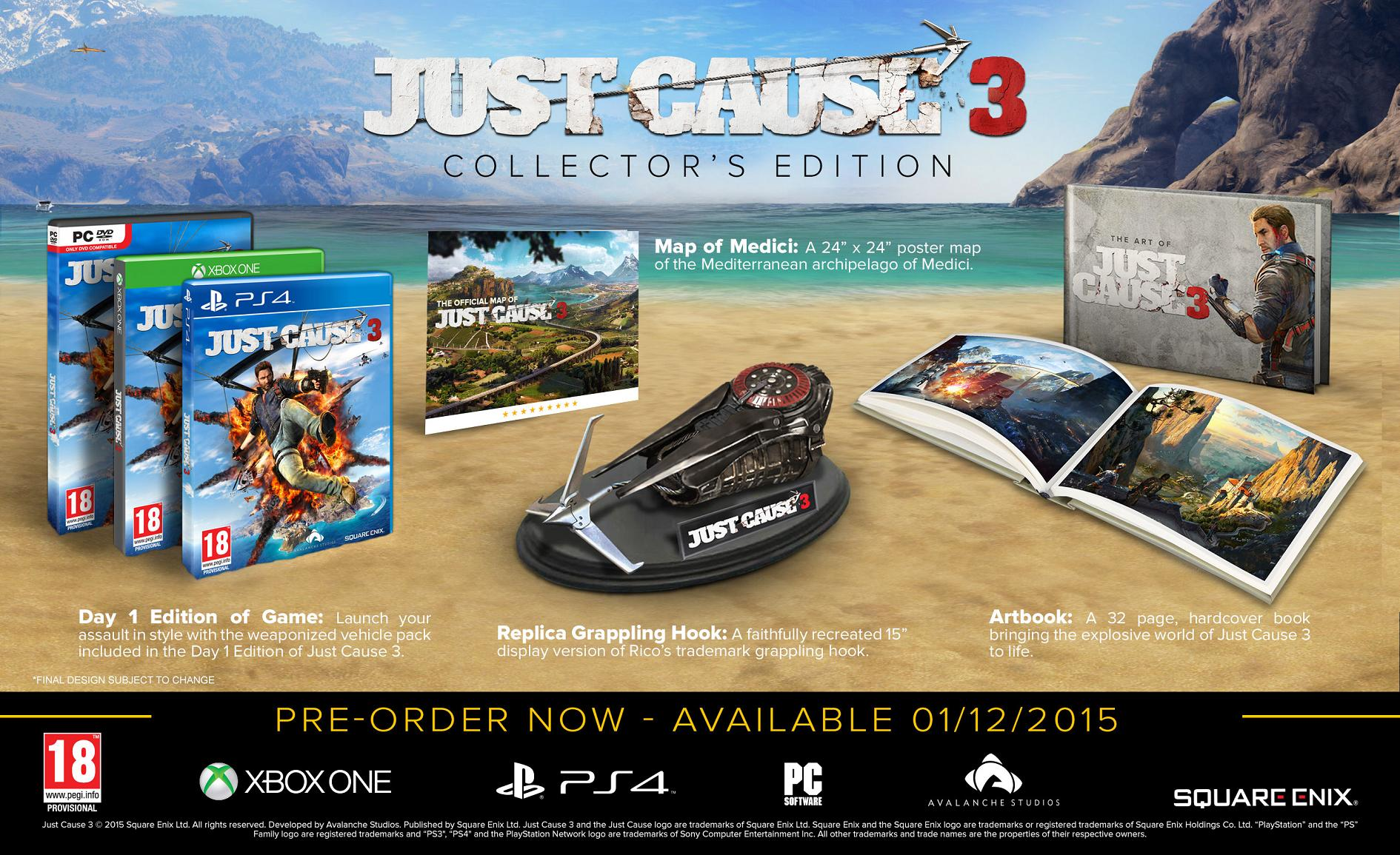 JUST CAUSE 3 COLLECTOR'S EDITION - Xone
