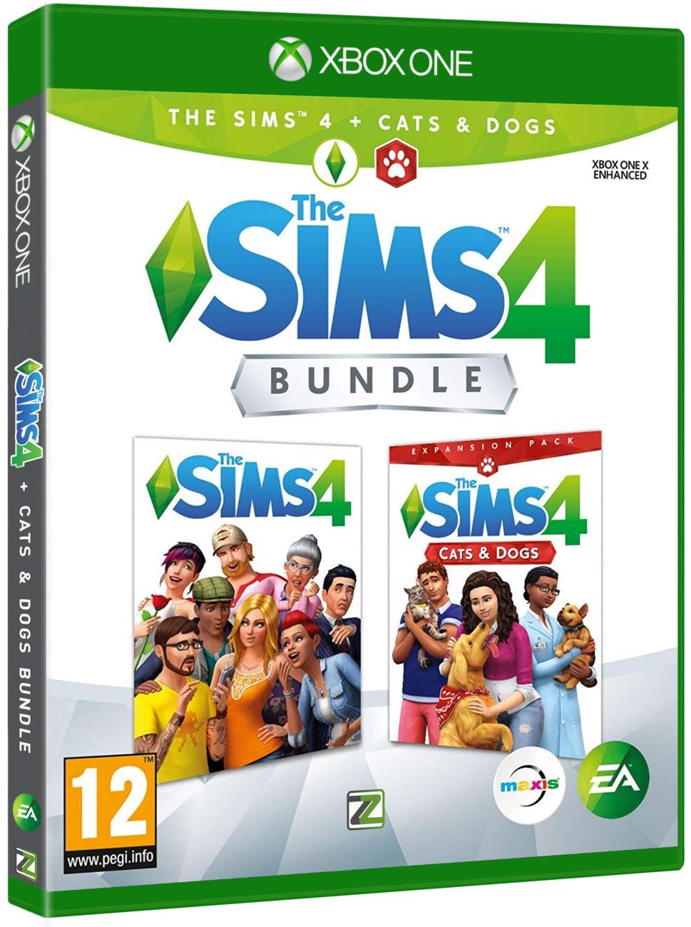 The Sims 4 + Psi a Kočky BUNDLE (základní hra + rozšíření) - Xone
