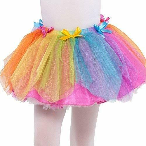 Dětský kostým - sukně - Duhová víla 4-6 let