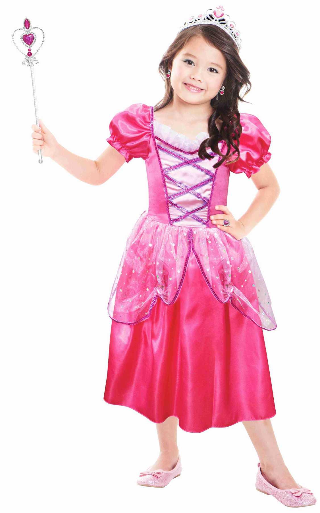 Dětský kostým - Růžová princezna 3-6 let, 96-116cm