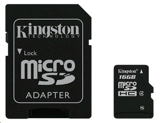 16GB Mobility Kit G2 Kingston class 10 (microSDHC karta + SD adaptér + USB čtečk