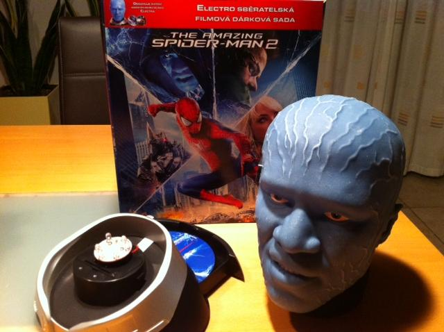detail Amazing Spider-Man 2 (Limitovaná edice) hlava Electro - Blu-ray 3D + 2D