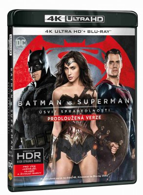 Batman Vs. Superman: Úsvit spravedlnosti (4K) - UHD Blu-ray + Blu-ray (2 BD)