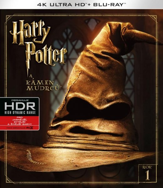 detail Harry Potter a Kámen mudrců (4K Ultra HD) - UHD Blu-ray + Blu-ray (2 BD)