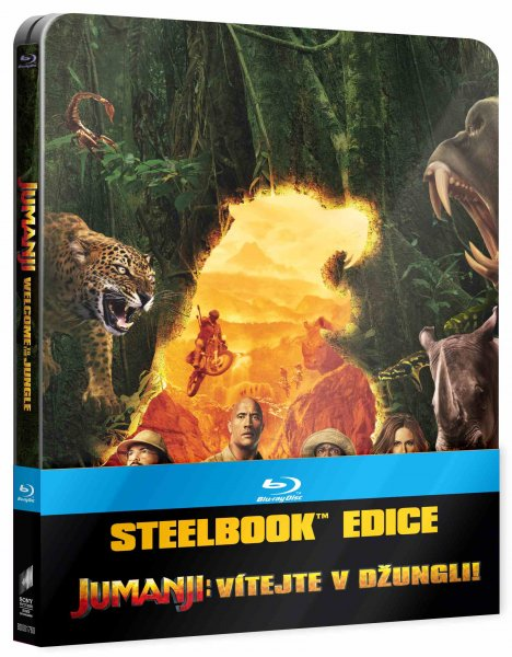 detail Jumanji: Vítejte v džungli! - Blu-ray Steelbook (International artwork)