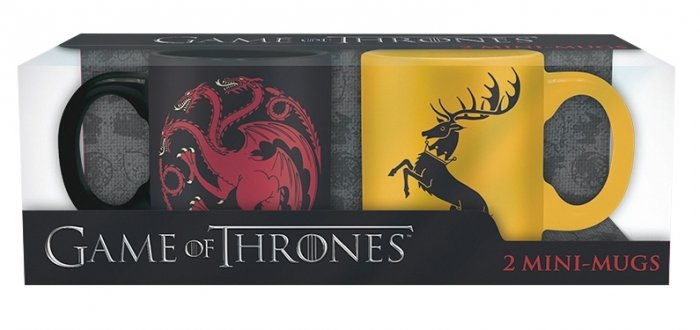 detail Hrnečky Game of Thrones 110ml - Targaryen & Baratheon