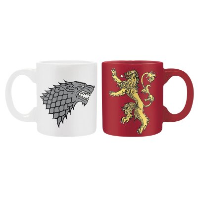 Hrnečky Game of Thrones 110ml set 2ks Stark & Lannister
