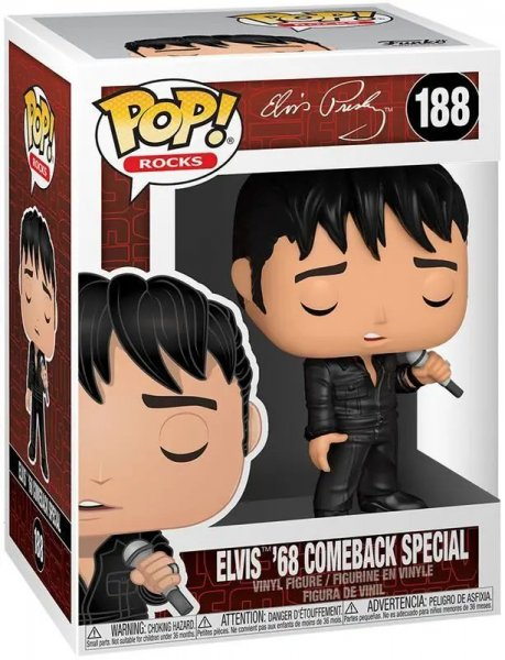 detail Funko POP! Rocks: Elvis - '68 Comeback Special