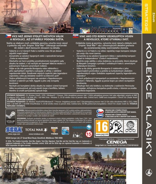 detail EMPIRE PLATINUM PACK: NAPOLEON TOTAL WAR+EMPIRE TOTAL WAR - PC
