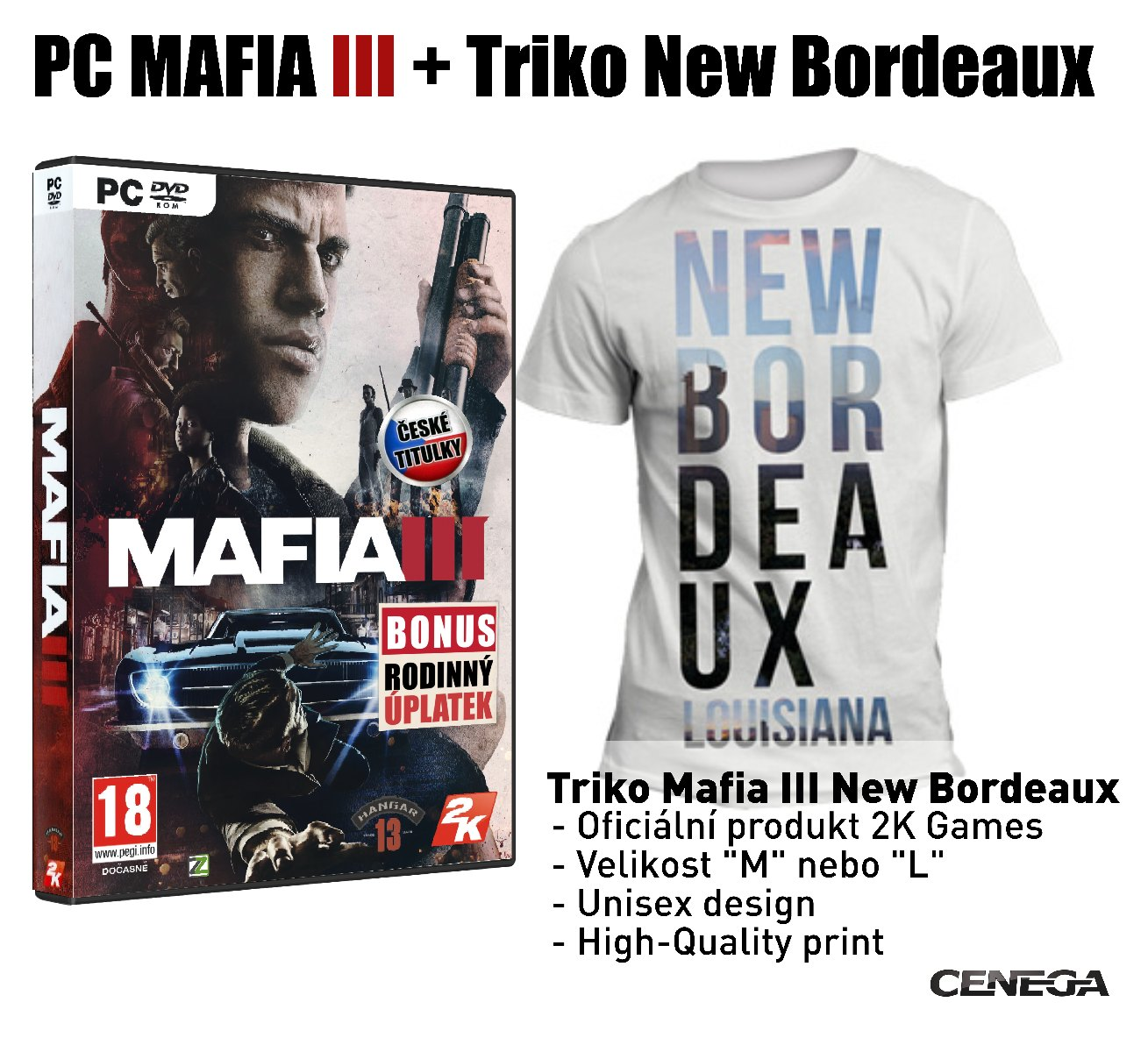 MAFIA III PC +Triko Mafia 3 New Bordeaux