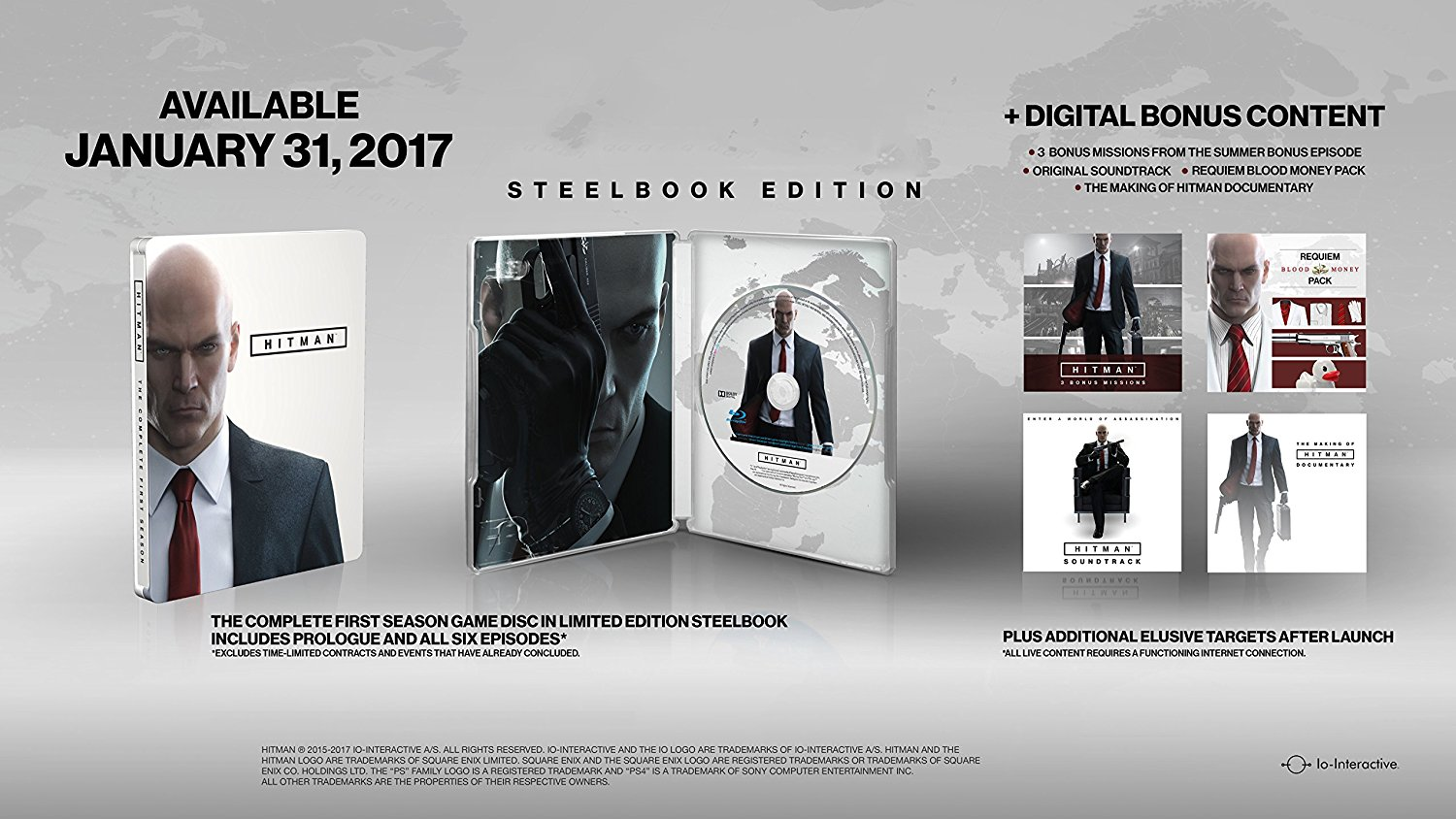 - Hitman The Complete First Season Steelbook Edition