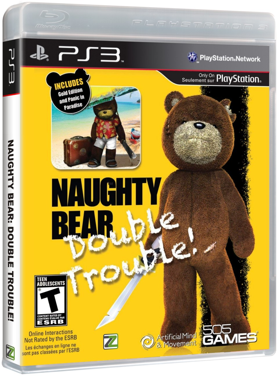 NAUGHTY BEAR - Double Trouble - PS3