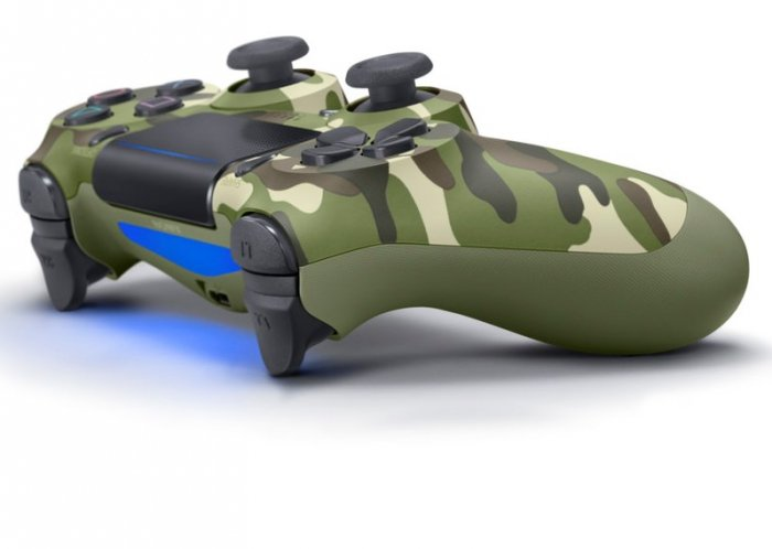 detail Dualshock 4 Wireless Controller V2 Green Cammouflage - PS4