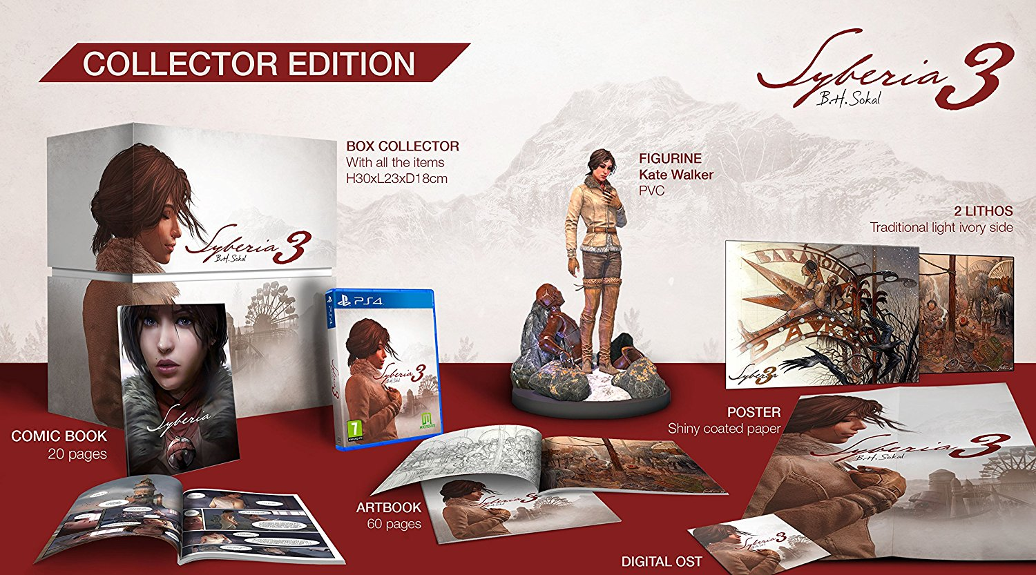 SONY PlayStation 4 - Syberia 3 Collector's Edition
