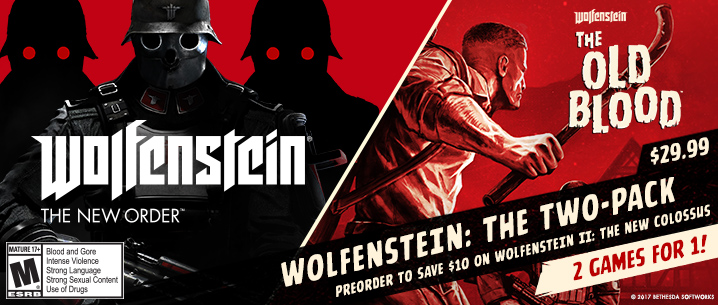 SONY PlayStation 4 - Wolfenstein The New Order and The Old Blood Double Pack