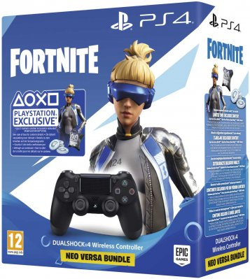 Dualshock 4 Wireless Controller V2 BLACK PS4 + Fortnite 500 V Bucks