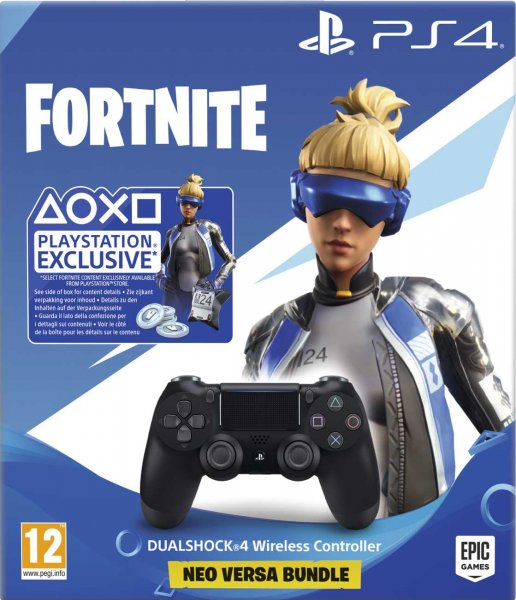 detail Dualshock 4 Wireless Controller V2 BLACK PS4 + Fortnite 500 V Bucks