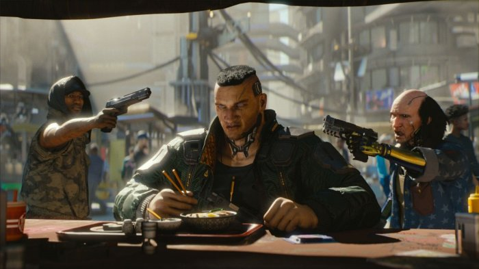 detail Cyberpunk 2077 - PS4