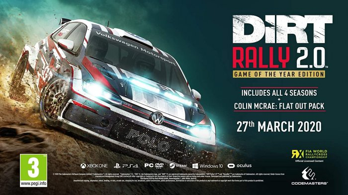 detail DiRT Rally 2.0 Goty Edition - PS4