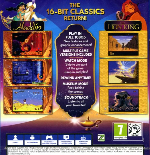 detail Disney Classic Games: Aladdin and The Lion King - PS4