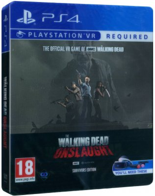 The Walking Dead Onslaught Survivors Edition Steelbook Version PS4 VR