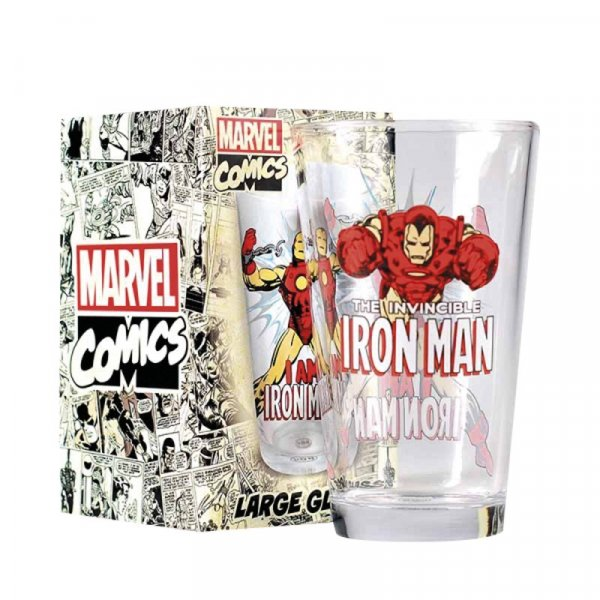 detail Sklenice Iron Man 450 ml