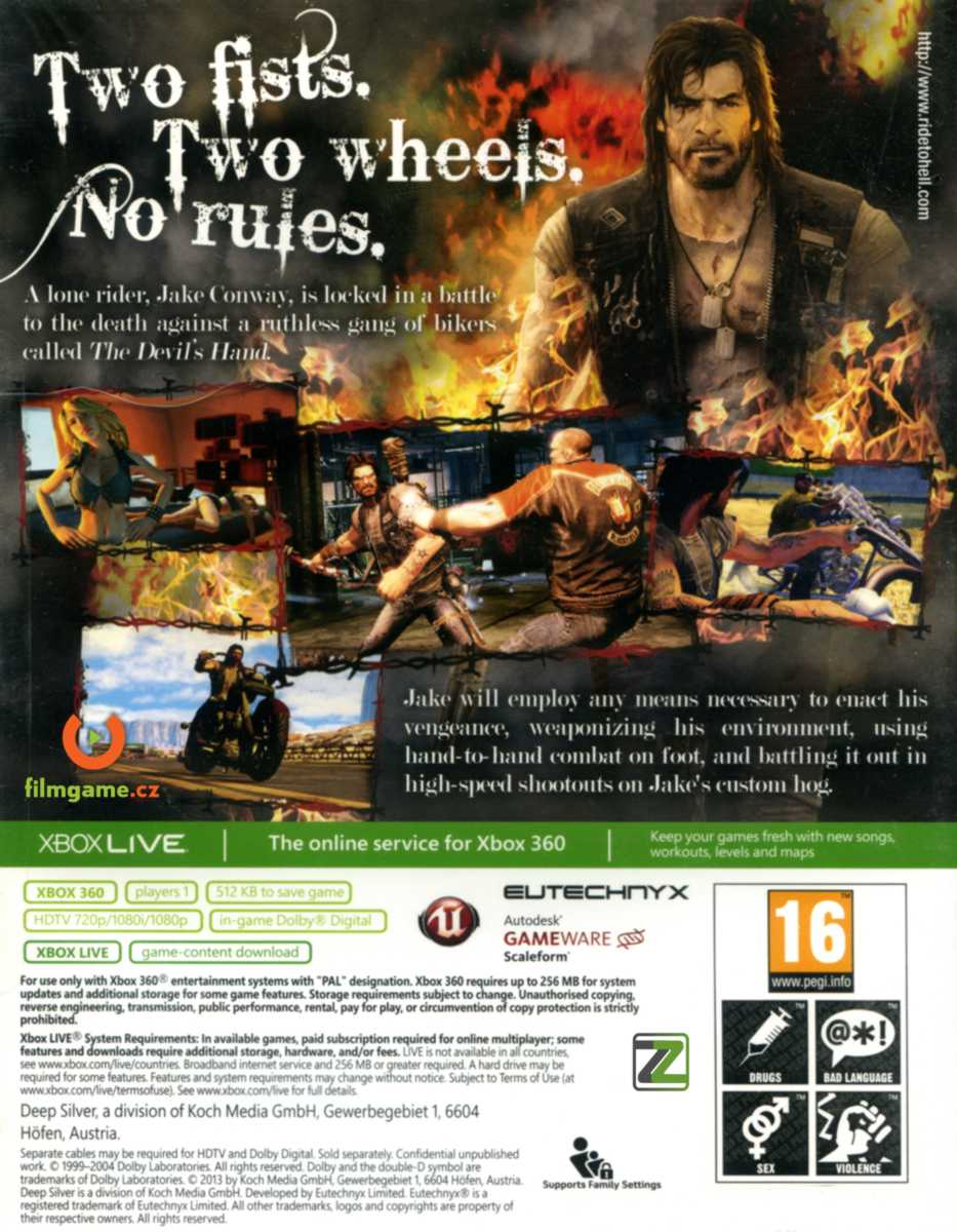 RIDE TO HELL: RETRIBUTION - X360