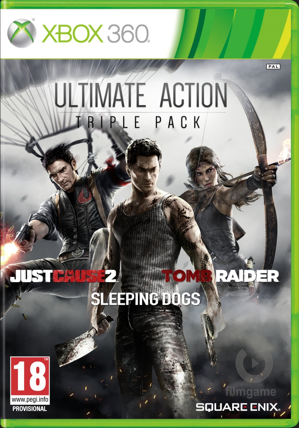 ULTIMATE ACTION TRIPLE PACK (JUST CAUSE 2 + SLEEPING DOGS + TOMB RAIDER) - X360