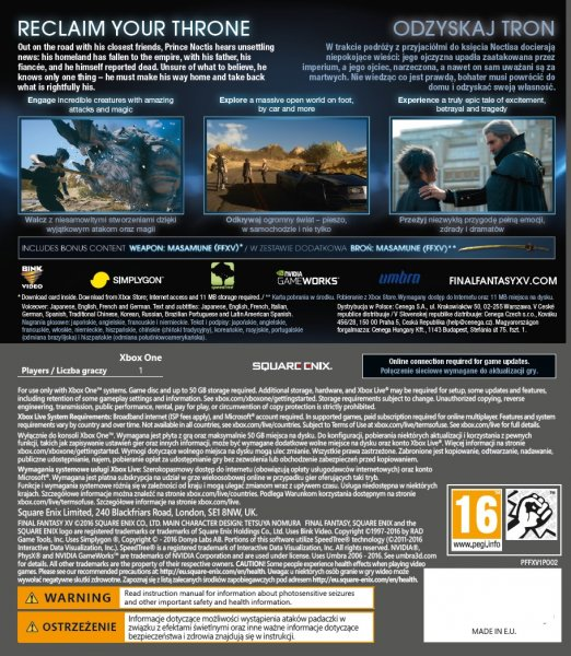 detail Final Fantasy XV - Day One Edition - Xbox One