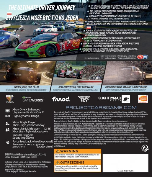 detail Project CARS 2 - Xone