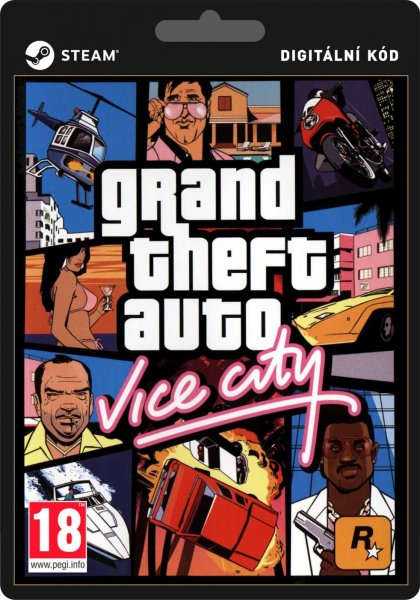 detail Grand Theft Auto Vice City GTA - PC (licence - digitální produkt ESD)