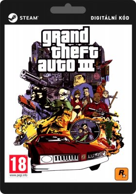 Grand Theft Auto III GTA - PC (licence - digitální produkt ESD)