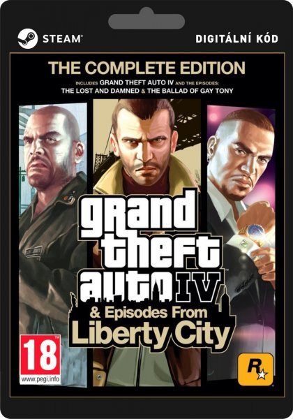detail Grand Theft Auto 4 Complete Edition GTA - PC (licence - digitální produkt ESD)